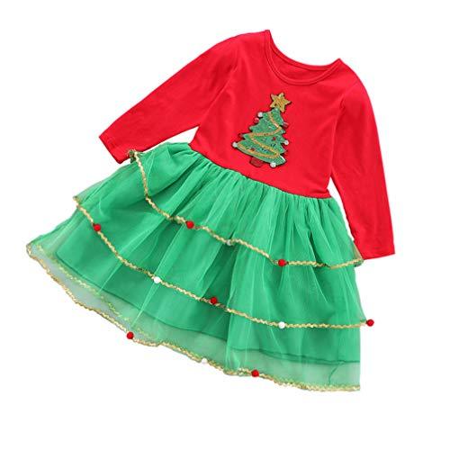 VALICLUD Vestido de Bebé Niña Navidad Navidad Vestido de Una Pieza Traje...