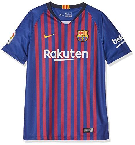 Nike FCB Y NK BRT STAD JSY SS HM T-Shirt Mixte Enfant, Bleu