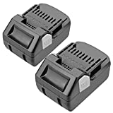 2Pack 18V 5.0Ah Replacement Lithium-ion Battery for Hitachi BSL1830 BSL1815X EB1814SL DS18DSAL 33055 330067 330068 330139 330557 Drill Cordless Tool