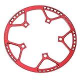 lahomia 2X 47t 53t 56t 58t Bandeja 130 Anillos de Cadena Velocidad Simple BCD Rojo