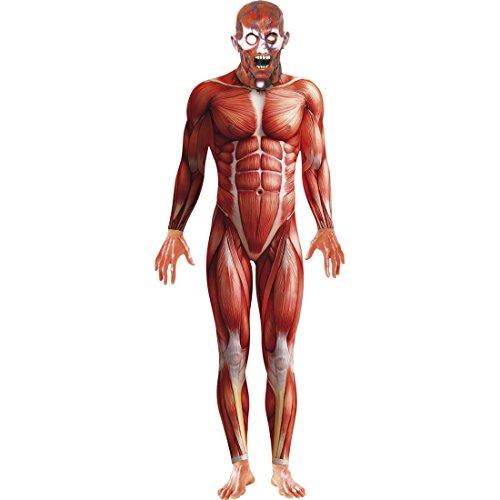 Anatomía Disfraz Traje de Cuerpo Entero Rojo L 52/54Second Skin Segunda Piel elástico Traje Carnaval Disfraces Disfraces Hombres Hombre