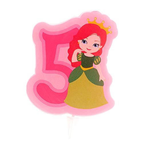 Generique - Bougie d'anniversaire Princesse Chiffre 5