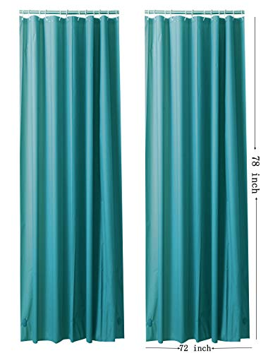 "Ghooss PEVA 4 Gauge Shower Curtain Liner(Pack of 2),Odorless Shower Curtain for Bathroom-72 x 78"",Aqua"
