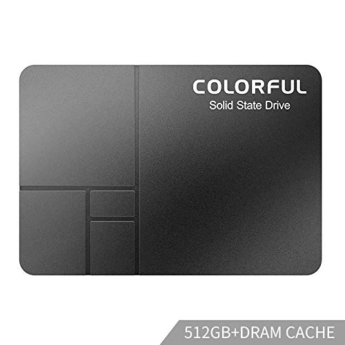 Colorful SSD 512GB - 2.5' SATA 3 3D Nand Internal Solid State Drive PC Laptop Classic Black,DRAM Cache