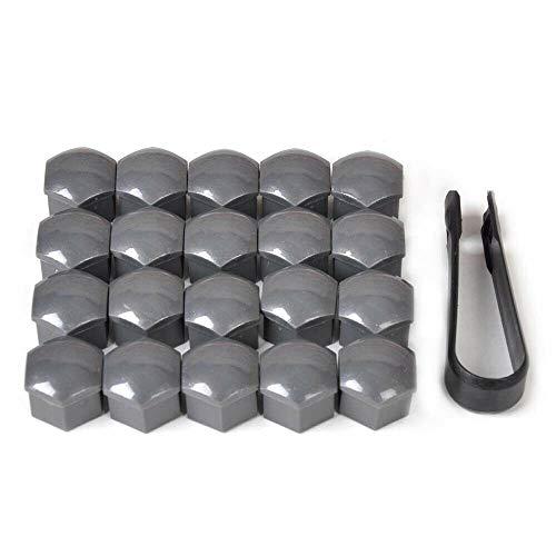 M&H - Set di 20 copribulloni per Pneumatici Auto, 17 mm, Antipolvere