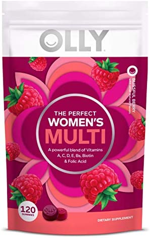 OLLY Women s Multivitamin Gummy Vitamins A D C E Biotin Folic Acid Berry Flavor 60 Day Supply product image