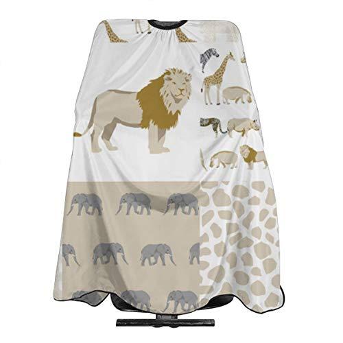 Delantal de pelo con diseño de león neutro para bebé, jirafa, guardería, cunas con cierre a presión para corte de pelo, peinado y champú, 55 x 66 pulgadas