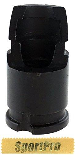 CYMA製 C54 電動ガン ガスブローバックライフル AK用 フラッシュハイダー 14mm 逆ネジ メタル製 - ブラック