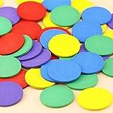 Sepikey Conteggio di Colori Misti Pezzi di Legno Gioco di Matematica Sussidi didattici 50 Pezzi gettoni da Gioco per Bambini