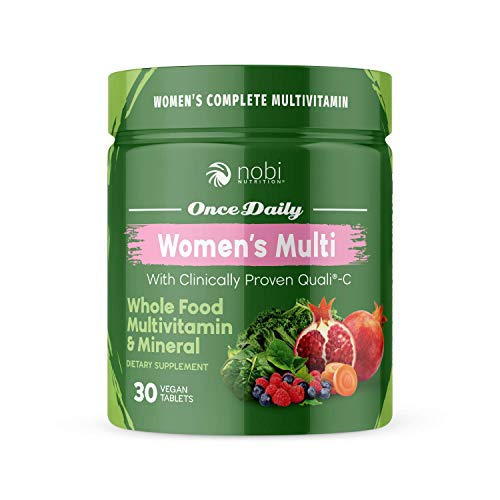 One Daily Multivitamin for Women - with Whole Food Vitamins - Immune Support with Clinically Proven Vitamin C, Vitamin D, Zinc - Premium Vegan Womens Vitamins - Natural Minerals & Extracts