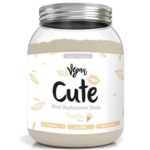 Cute Nutrition Batido Vegano Sustitutivo de Comida Sabor Vainilla para el Control de la Pérdida de Peso en Polvo Bebida Dietética para Mujer Bote de 565 g