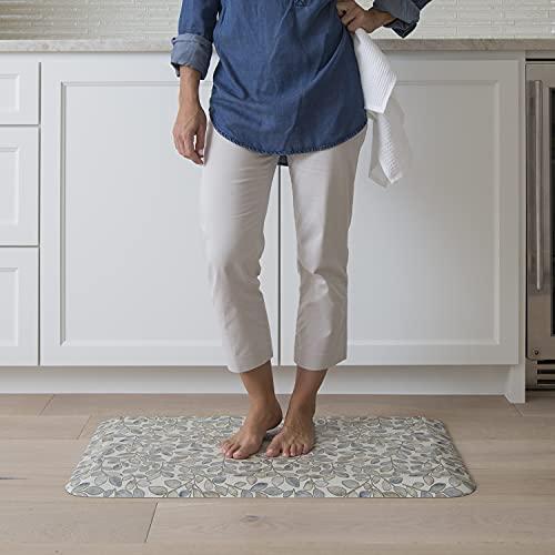 """GelPro Designer Comfort 3/4"""" Thick Ergo-Foam Anti-Fatigue Kitchen Floor Mat, 20""""x32"""", Orchard Almond"""