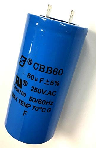 New Air Tool Parts 7819 Emglo Air Compressor Capacitor 60 UF AM 1-1/2HP Series