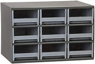 Akro-Mils 9-Drawer Steel Parts Craft Storage Cabinet Hardware Organizer, 19909, (17-Inch W x 11-Inch D x 11-Inch H), Gray Cabinet, Gray Drawers