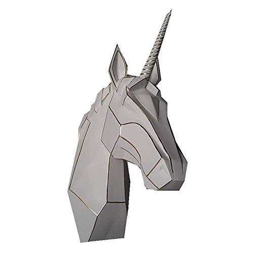 Home Accesorios Escultura de unicornio, caballo de unicornio colgante en la pared Trofeo Decoración de pared Estatua de resina