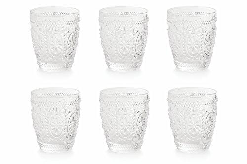 Villa d'Este Home Tivoli Imperial Set di 6 Bicchieri Acqua, 9,4x8.20x8.20 cm, 6 unità