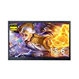 15.6 inch Portable Monitor HDMI Full HD 1920x1080P IPS Monitor for Xbox One, PS3 PS4 Raspberry Pi Laptop Computer, Built-in Speakers
