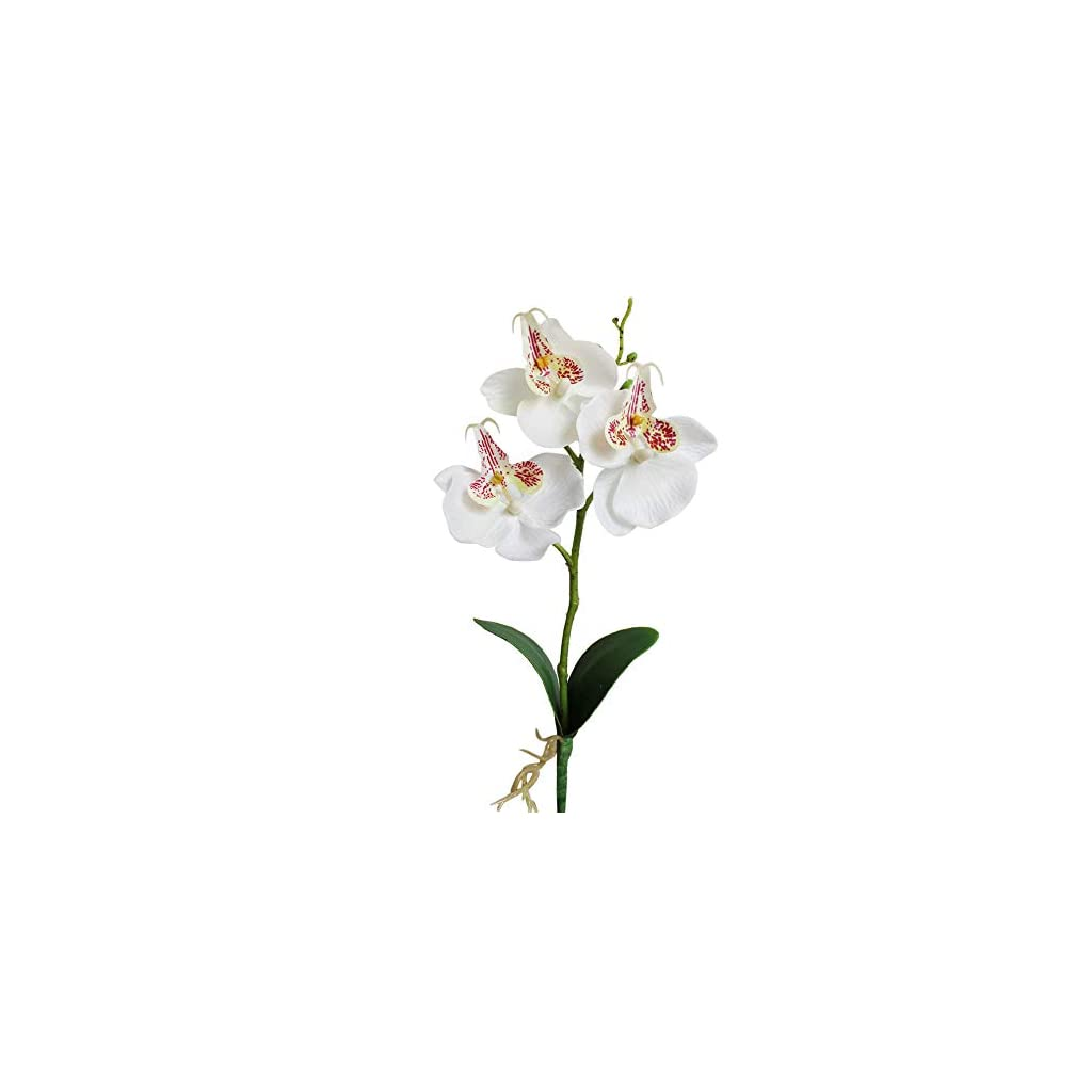 Triple Head Artificial Butterfly Orchid Silk Flower Home Wedding Decor