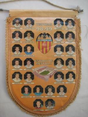 Banderín - Pennant : VALENCIA CLUB DE FUTBOL, Temporada 1998 - 99....