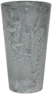アートストーン トール ラウンド 42 x H 90 cm/軽量/植木 鉢 プランター 【 グレー 】