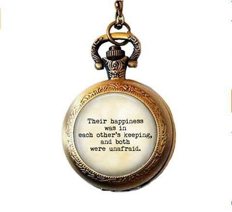 Anne of Green Gables Zitat Ihre Glück War in jeder anderen 's, und wurden beide Angst zu halten–Liebhaber Geschenk–Ehegatten Geschenk–Romance Taschenuhr Halskette