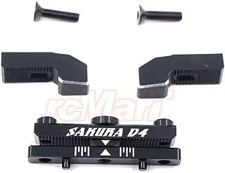 3Racing Aluminum Rear Toe in Mount 0-5 Degree Adjustable Style 1Pc Black For Sakura D4 AWD RWD #SAK-D4840/BK