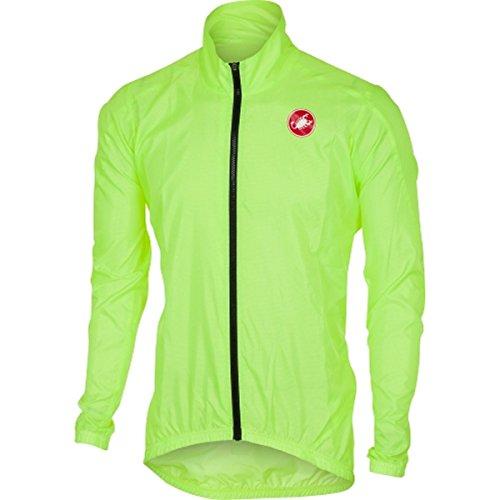 Castelli Mens Squadra ER Jacket (Yellow Fluo
