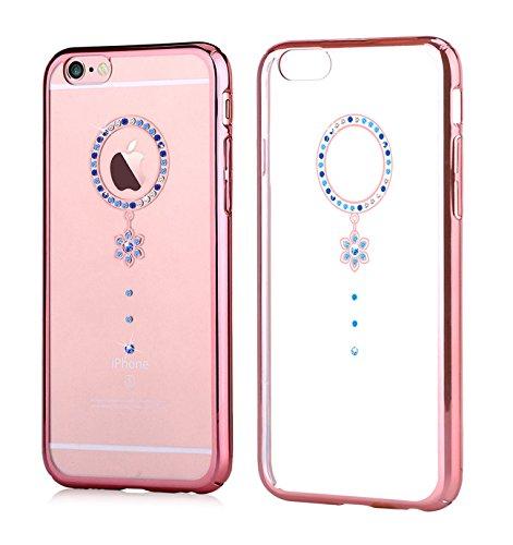 Funda Swarovski para iPhone 6/6S Crystal Camelia Azul RG