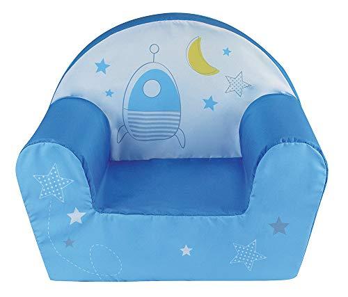 Fun House 713070 Espace - Sillón Infantil Original de Francia, Color Azul y Amarillo a Partir de 18 Meses