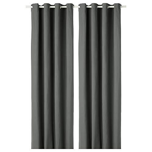 IKEA.. 302.568.48 Merete Vorhänge, 1 Paar, Grau