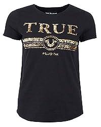Luxe Sequin Logo T-Shirt Black