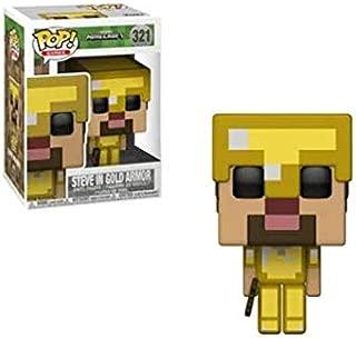 pop! Games Minecraft Vinyl Figure Steve in Gold Armor #321 Walmart Exclusive