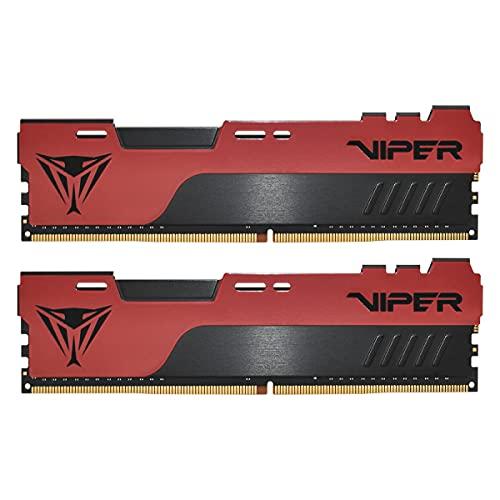 Patriot Memory Viper Elite II DDR4 3200 64GB (2x32GB) C18 Kit di Memoria Gaming RAM XMP 2.0 Nero/Rosso