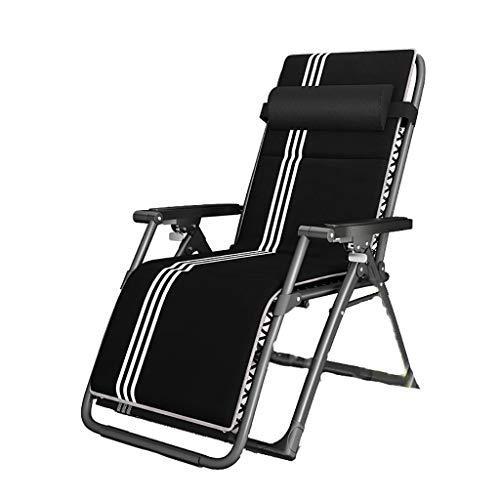 Chaise longue de jardin inclinable Fold Lounge Chair Multifonction Wisdom Buckle Chair Chaise Lit Lit Pause-déjeuner Nap Chaise Canapé Ménage Balcon Loisirs Été Fraîche Chaise (Color : C)