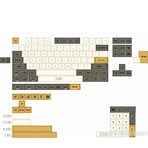 YOU339 138 Stück Shimmer Style PBT Dye-Sub Keycaps XDA-Profil mit Abzieher für 61/64/87/96/104 Tasten GH60 RK61 Matrix Joke Benutzerdefinierte mechanische Gaming-Tastatur