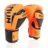 SSGLOVELIN Guantes Venum 10,12,14 OZ Boxeo Guantes de Cuero PU Lucha Guantes Hombre Formación Guantes de Boxeo for Mujeres de los Hombres (Color : Orange, US Size : 12 oz)