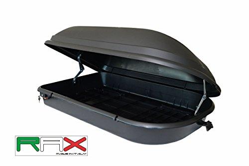 RAX Diamond 340 Box da tetto, Nero, 131 x 43 x 78 cm