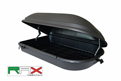 RAX Diamond 340 Box da tetto, Nero, 131 x 43 x 78 cm