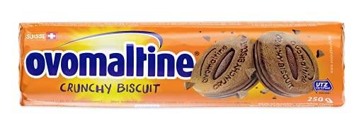 Ovomaltine Crunchy Biscuit Kekse mit Schokolade - Knusper Biscuits mit Ovomaltine Creme aus feinstem Kakao-Pulver, nachhaltig und UTZ-zertifiziert (1 x 250g)