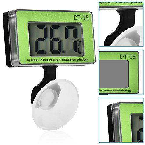 Zyyini thermometer voor aquarium, geïntegreerde temperatuursonde, hoge precisie, groot digitaal display, aquarium voor vissen, tank voor het meten van de temperatuur van de thermometer
