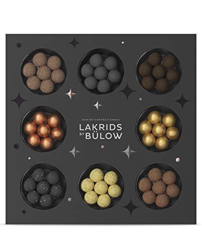 LAKRIDS BY BÜLOW - Winter Selection Box - 335g - Pralinen-Geschenk mit Dänischen Gourmet Lakritz-Kugeln - Weicher Lakritzkern umhüllt von Cremiger Schokolade - Lakritz Schokoladen Geschenk