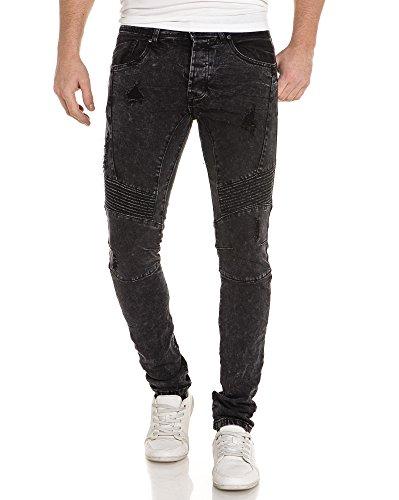 Gov denim -  Jeans  - Slim - Uomo Nero  40