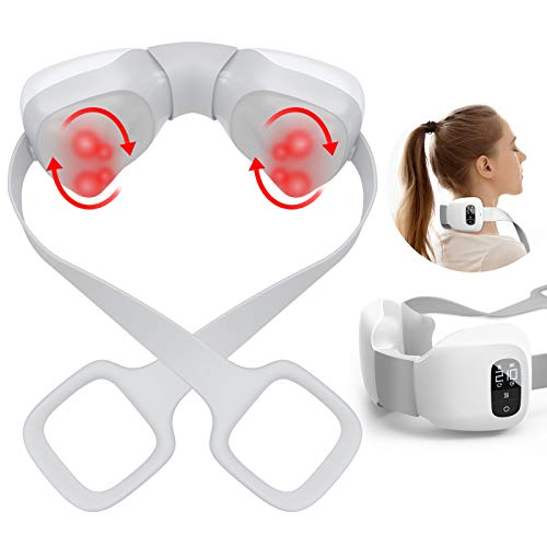 Shiatsu Neck Massager for Pain Relief, Cunmiso LED Display Neck Massage with Heat and Adjustable...