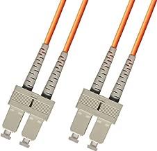 4 Meter OM1 Multimode Duplex Fiber Optic Cable (62.5/125) - SC to SC - Orange
