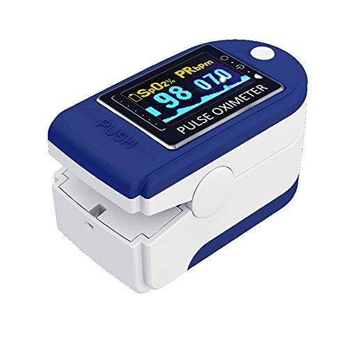 Ln Finger-Impuls-Oximeter-Blut-Sauerstoff Saturometro SPO2 PR Oxymeter Tragbares Saturators (blau)