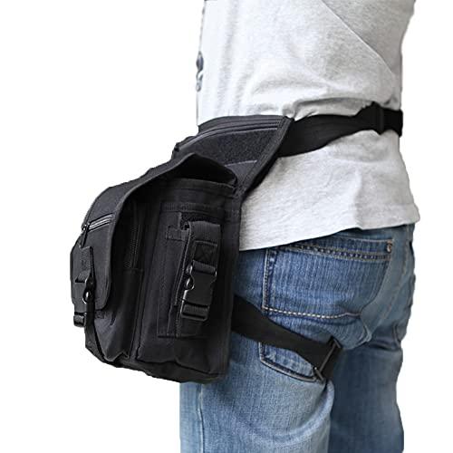 Docooler Bolsa de Pierna Táctica Impermeable,Bolsa Moto Multifuncional para Hombres, Militar Bolsa Molle Cinturón