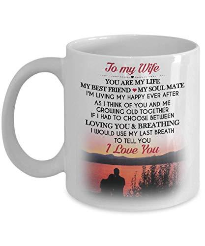Voor mijn vrouw verras je vrouw met dit mooie koffiekopje cadeau.
