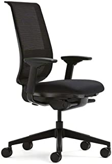 Steelcase Black Mesh Back Reply Chair with Black Fabric Seat