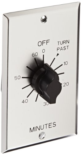 NSi Industries TORK C560M In-Wall Spring Wound 60-Minute Commercial Grade Mechanical Interval Timer Switch - for Fans, HVAC, Whirlpools, Motors and Pumps - Automatic Off  - Metal Single-Gang Wall Plate Included