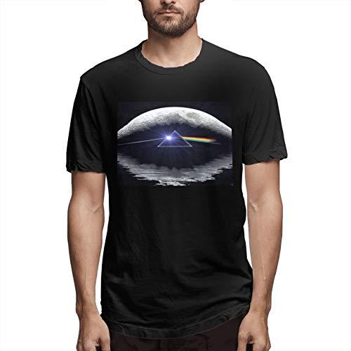 FDXGFHJ Pi-Nk F-Loyd The Dark Side of The Moon Herren Tops T-Shirt für Herren Kurzarm T-Shirt für Herren Baumwolle Tee Black 4XL